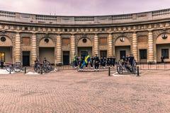 21 gennaio 2017: Cambiamento della guardia nel palazzo reale della S Fotografie Stock Libere da Diritti