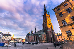 21 gennaio 2017: Chiesa di Riddarholm a Stoccolma, Svezia Immagini Stock Libere da Diritti