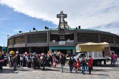 8 gennaio 2016 - Città del Messico: La basilica della nostra signora Guadalupe Fotografia Stock