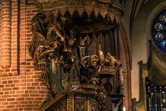 21 gennaio 2017: Decorazione della cattedrale della S Immagine Stock