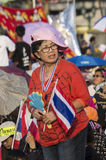 5 gennaio 2014: Dimostranti antigovernativi a Democra Immagini Stock Libere da Diritti