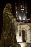 Gennaio Hus & chiesa di Tyn Fotografia Stock Libera da Diritti