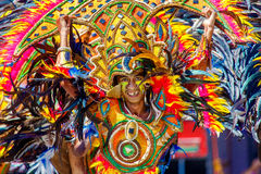 24 gennaio 2016 Iloilo, Filippine Festival Dinagyang Unid Immagine Stock