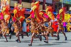 24 gennaio 2016 Iloilo, Filippine Festival Dinagyang Unid Immagini Stock