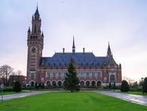 5 gennaio 2018, L'aia, Paesi Bassi Palazzo di pace e fotografia stock