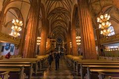 21 gennaio 2017: Panorama dell'interno della cattedrale della S Immagine Stock