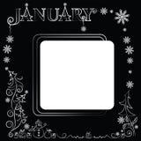 gennaio Struttura festiva di inverno Fotografia Stock