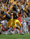 Geno Smith passing - WVU football Royalty Free Stock Images
