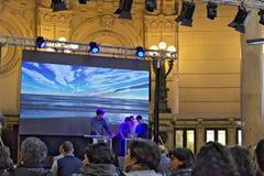 genoa Конференция на здании фондовой биржи стоковая фотография