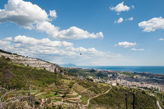Genoa from above. Panoramic view from the port of Genoa Royalty Free Stock Photo