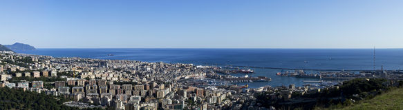 Genoa from above Royalty Free Stock Photography