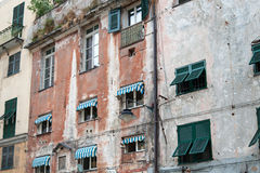 Genoa, alleyways, dilapidated mansion Stock Photo