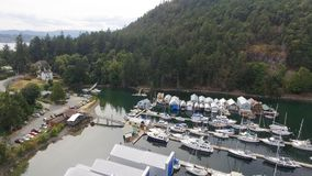 Genoa Bay aerial view in Vancouver Island.  stock image