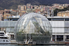 Genoa Biosphere in Italy. La Bolla in Genoa, Italy stock image