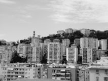 Genoa in black and white royalty free stock photo