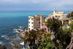 Genoa - Boccadasse borough, colorful old houses - Liguria. Boccadasse is a tiny fishing village located at the end of Corso Italia - Italy royalty free stock photos