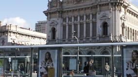 Genoa Brignole-post stock footage