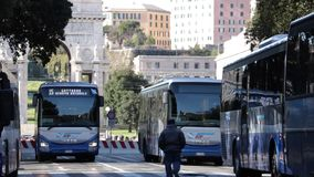 Genoa bus station. stock video