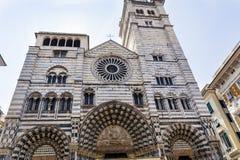 Genoa Cathedral en Génova, Italia Foto de archivo