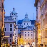 Genoa Cathedral at night. Genoa, Liguria, Italy Stock Photo