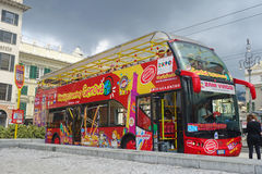 Genoa City Sightseeing Red Bus Hop on off Stock Image