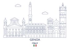 Genoa City Skyline, Italie Photo stock