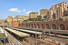 Genoa city skyline view. Stock Image