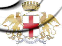 Genoa Coat of Arms, Italy. 3d Rendered Genoa Coat of Arms, Italy Stock Photos