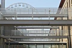 Genoa. Ferris wheel and pedestrian walkways royalty free stock images