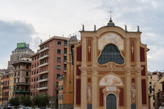Genoa, the former church of St. Saviour Royalty Free Stock Photos