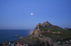 The Genoa fortress in the Crimea Stock Photo