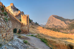 Genoa fortress on the mountain Royalty Free Stock Photo
