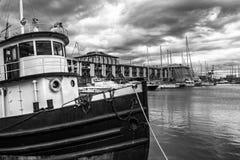 genoa gammal port arkivbilder