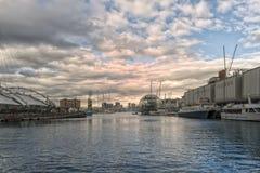genoa gammal port royaltyfria foton