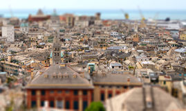 Genoa Genova italy old town tilt shift Royalty Free Stock Photos