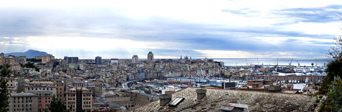 Genoa from the heights of the city Stock Images