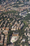 Genoa Italy aerial view Stock Photo