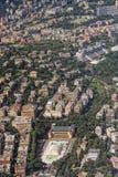 Genoa Italy aerial view Stock Photo