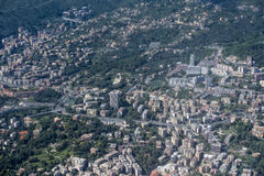 Genoa Italy aerial view Stock Photography