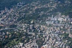 Genoa Italy aerial view Stock Photography
