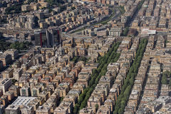 Genoa Italy aerial view Stock Photos