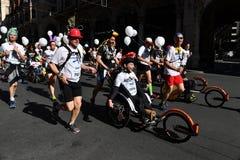 GENOA, ITALY - APRIL, 24 2016 - Annual non competitive marathon Stock Photos