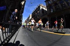 GENOA, ITALY - APRIL, 24 2016 - Annual non competitive marathon Stock Photography