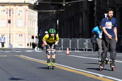 GENOA, ITALY - APRIL, 24 2016 - Annual non competitive marathon Royalty Free Stock Photos
