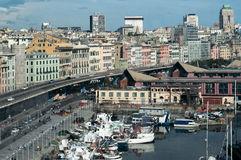 Genoa, Italy. Boats and route, harbor. Genoa, Italy Boats and route harbor Royalty Free Stock Image