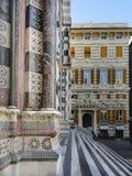 Genoa Italy Cityscape med domkyrkan royaltyfria bilder