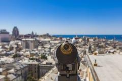 Genoa, Italy. Closeup of touristic monocular for view at Genoa, Italy Stock Image