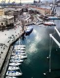 Genoa, Italy_ Harbor Aerial View stock image