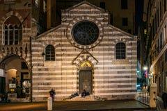 Church of Saint Matthew in Genoa by night