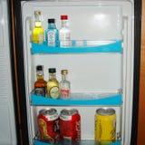 Hotel room frigobar stock image